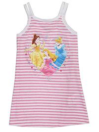 Disney PINK Girls Pure Cotton Striped Princess Vest Top - Age 3Y to 6Y