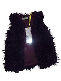 Tricky Tracks DARK-PURPLE Baby Girls Faux Fur Gilet - Age 6M to 18M