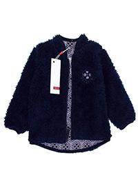Name It NAVY Girls Teddy Fleece Zip Through Jacket - Age 6/9M to 2/3Y