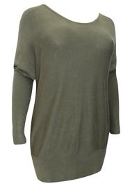 BPC Selection OLIVE Drop Shoulder Knitted Jumper - Size 10/12 to 22/24