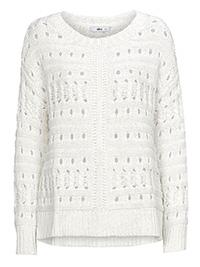 Curve Ellos WHITE Fala Soft Knit Jumper - Plus Size 16/18 to 24/26 (EU 42/44 to 50/52)