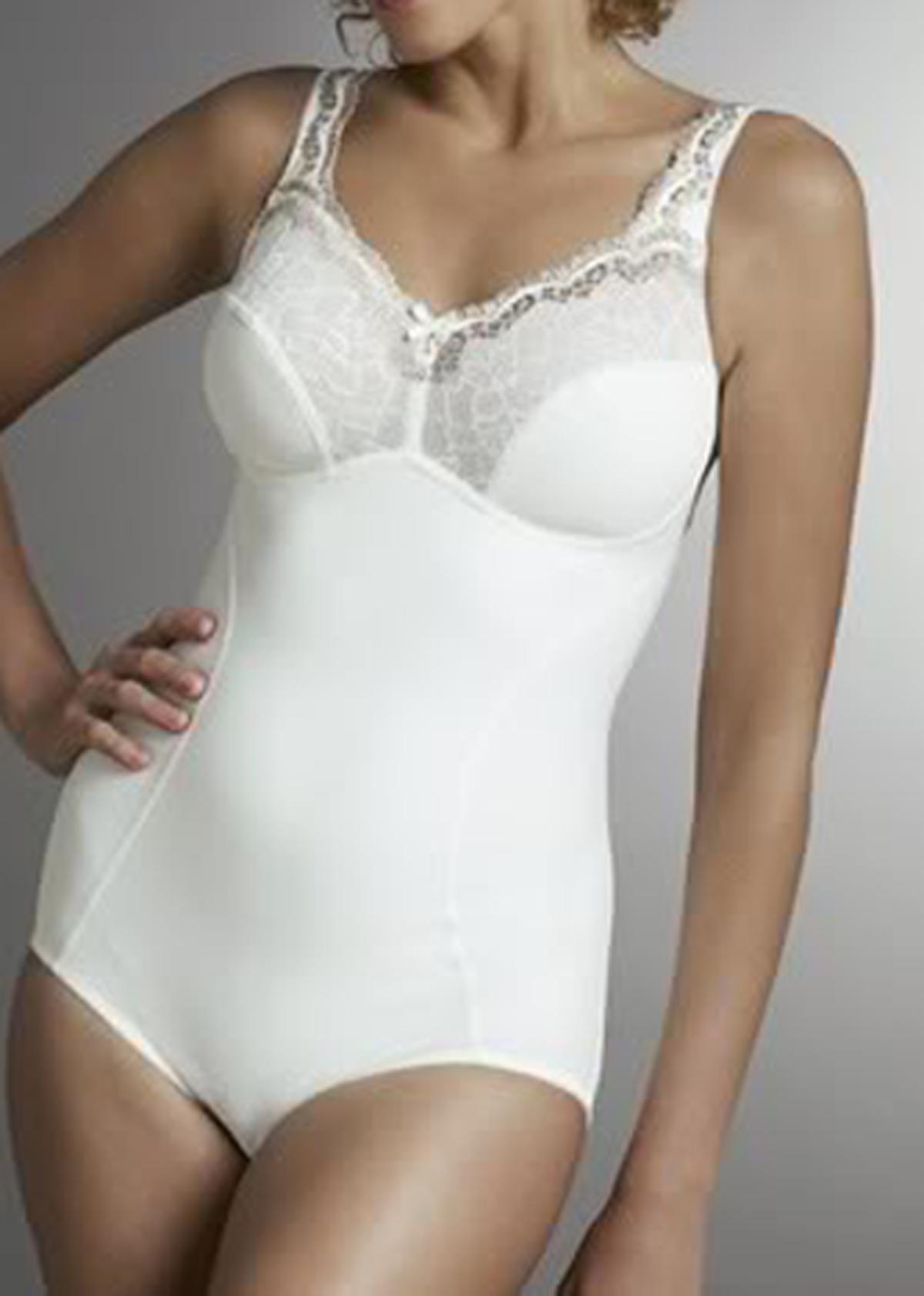 käytettävissä ei myyntiveroa uudet tyylit Swegmark Cream Shaping Lace Body Corselette 36 to 48 B C D ...