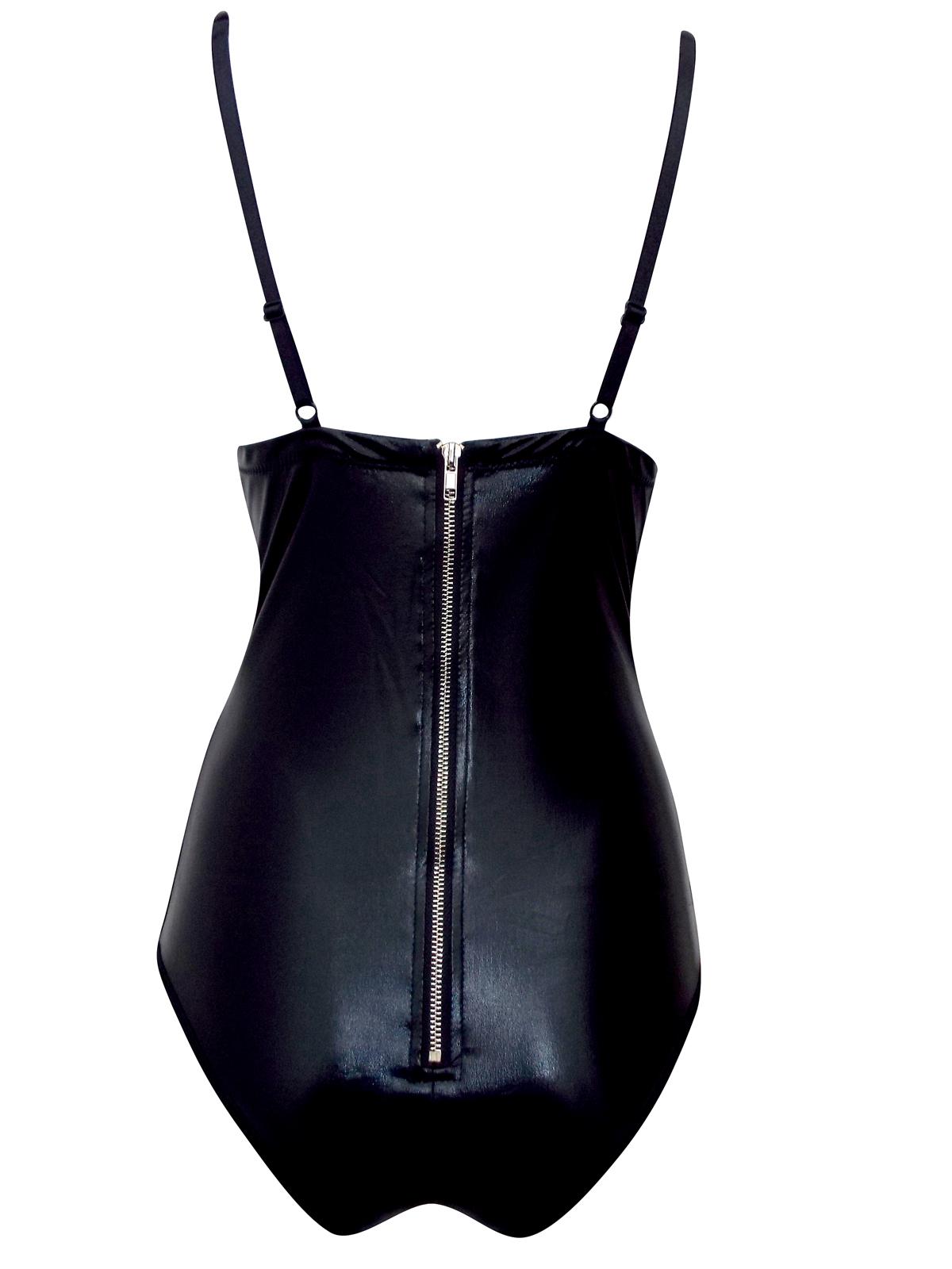 289206211d97 Ann Summers - - Ann Summers SHARI BLACK Wet Look Laced-Up PVC Bodysuit -  Size 10