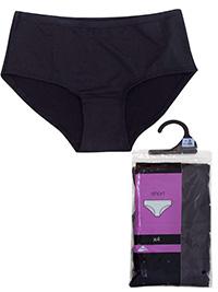 F&F BLACK 4-Pack No VPL Microfibre Low Rise Shorts - Size 8