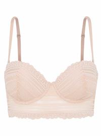 Oysho NUDE Sweetheart Strapless Balcony Lace Bra - Size 32 to 38 (B-C)