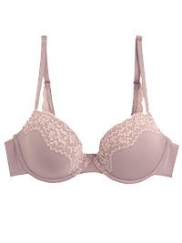 OYSHO MAUVE Modal Rich Lightly Padded Lace Bra - Size 32 to 38 (B-C)