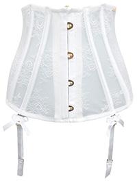 Boux Avenue IVORY Suspender Strap Waspie - Size 6 to 16/18