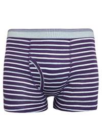 Mens D3benhams PURPLE GREY Striped Cotton Stretch Trunks - Size Small to 4XLarge