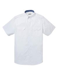Jacamo Mens WHITE Pure Cotton Short Sleeve Military Shirt - Plus Size XLarge to 5X