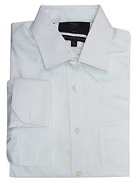 M&5 WHITE Pure Cotton Slim Fit Non-Iron Shirt - Collar Size 14.5 to 19.5