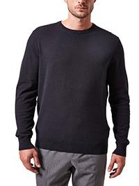 Burtons Mens BLACK Cotton Blend Crew Neck Jumper - Size XS to 5XL