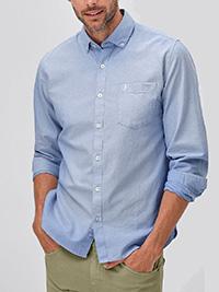 Ellos SKY-BLUE Mens Pure Cotton Oxford Shirt - Plus Size 2X