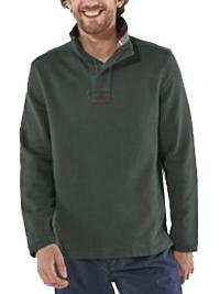 WH1TE STUFF GREEN Mens Pure Cotton Half Zip Sweatshirt - Size M