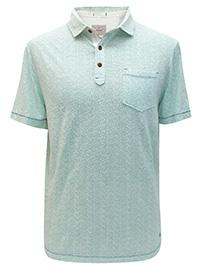 WH1TE STUFF MINT Mens Pure Cotton BOSO Printed Polo - Size M to XL