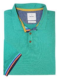 WH1TE STUFF GREEN Mens Pure Cotton Chest Logo Polo - Size L to XL