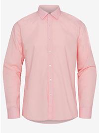 Big&Tall Mens ELLOS PINK Cotton Blend Long Sleeve Shirt - Plus Size 2XL to 6XL