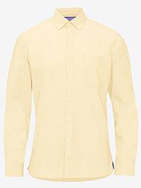 Big&Tall Mens ELLOS YELLOW Pure Cotton Oxford Shirt - Plus Size 2XL to 6XL
