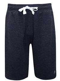 Penguin Originals CHARCOAL Mens Drawstring Waist Ribbed Shorts - Size S to XL