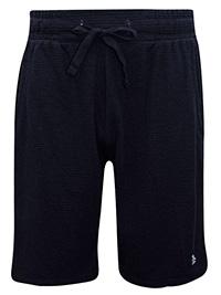 Penguin Originals BLACK Mens Drawstring Waist Ribbed Shorts - Size S to XL