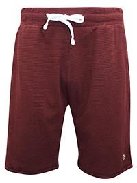 Penguin Originals MAROON Mens Drawstring Waist Ribbed Shorts - Size S to XL