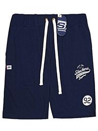 Big&Tall Mens Skechers NAVY Pure Cotton Drawstring Waist Shorts - Plus Size 2XL to 5XL