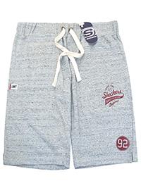 Big&Tall Mens Skechers GREY Pure Cotton Drawstring Waist Shorts - Plus Size 2XL to 5XL