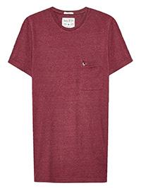 Jack Wills DAMSON Mens Pure Cotton Slim Fit Logo T-Shirt - Size XL