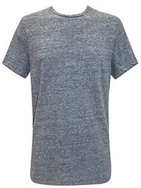 DKNY GREY Mens Cotton Rich Crew Neck T-Shirt - Size L