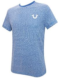True R3ligion BLUE Mens Supersoft Cotton Rich Striped Short Sleeve T-Shirt - Size S to XL