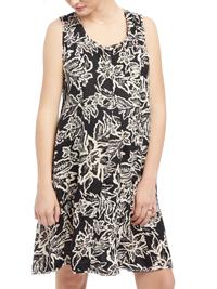 Motherhood BLACK Printed JerseyMaternity Dress Size 6/8 to 18/20 (Small to XLarge)