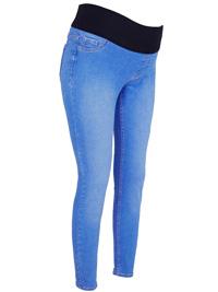 N3w L00k BLUE-DENIM Emilee Under Bump Maternity Jeggings - Size 8 to 18 (Lengths 28in-30in-32in-34in)