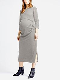 D.P3RKINS GREY Knitted Maternity Nursing Midi Dress - Size 6 to 20