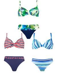 Naturana ASSORTED Underwired Printed Bikini Sets - Size 10