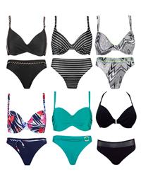 Naturana ASSORTED Plain & Printed Bikini Sets - Size 10
