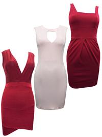 ASSORTED Ladies Sleeveless Bodycon Dresses - Size 6 to 12