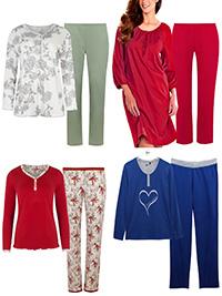Naturana Cybele ASSORTED Plain & Printed Pyjama Sets - Size 10