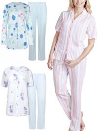 Naturana Cybele ASSORTED Floral & Striped Pyjama Sets - Size 10