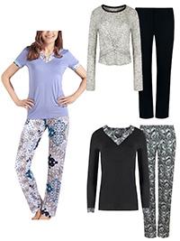 Naturana Cybele ASSORTED Long Sleeve Pyjama Sets - Size 10