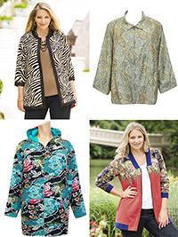 Ulla Popk3n ASSORTED Zip Through Jackets - Plus Size 12/14 to 36/38