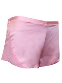 AS0S PINK Chiffon Panelled Satin Pyjama Shorts - Size 4 to 18