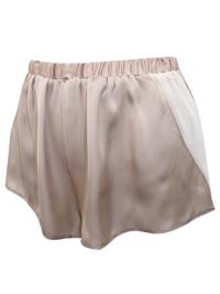 AS0S OYSTER Chiffon Panelled Satin Pyjama Shorts - Size XSmall to XLarge