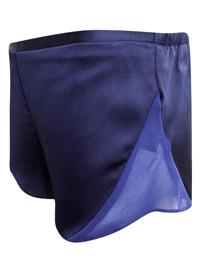 AS0S NAVY Chiffon Panelled Satin Pyjama Shorts - Size 8 to 10