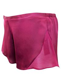 AS0S WINE Chiffon Panelled Satin Pyjama Shorts - Size 4 to 12