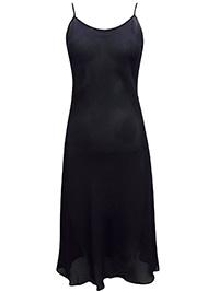 Victoria's Secret BLACK Chiffon Crepe Midi Lingerie Slip - Size Small to Large