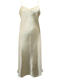 Victoria's Secret PALE YELLOW Satin Skinny Strap Lingerie Slip - Size Large