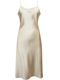 Victoria's Secret LAME GOLD Satin Midi Thin Strap Slip - Size Small to Large