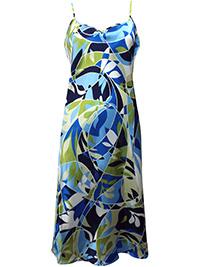 Victoria's Secret BLUE MIX Satin Skinny Strap Lingerie Slip - Size Small to Large