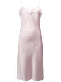 Victoria's Secret DUSKY PINK Satin SILK Blend Skinny Strap Slip Dress - Size Small to Large