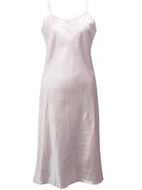 Victoria's Secret BABY PINK Satin Silk Cotton Blend Slip Dress - Size Small to Large