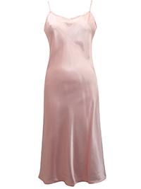 Victoria's Secret PEACH Silky Satin thin Strap Lingerie Slip - Size Small to Large